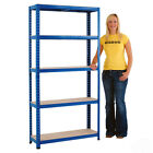 5 Tier Shelving Garage Shelving Racking Storage Warehouse Units 200kg BiGDUG