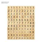 Wooden Mathematic Scrabble tiles Symbols Number sign for scrapbooking handcrafts