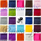 "12"" x 12"" Men's Satin Solid Hankie  Handkerchief Pocket Square Hanky only Prom"