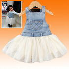 Kids Baby Girls Clothes Summer Denim Jeans Dress / Overalls / Outfit Age 6M-4Ys