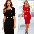 Formal Women Celebrity Work Bodycon Tight Party Wiggle Evening Mid  Dress Y753