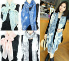 Fashion Women Large Silk Scarves Ladies and Girls Long Print chiffon Scarf Wrap