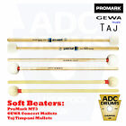 Drum Kit Soft Beaters: ProMark MT3/GEWA Concert/Taj (Cymbal/Timpani Mallets)