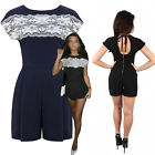 NEW Sexy Lace Chiffon Bodycon Bandage Club Party Slim Short Jumpsuit Romper S-L