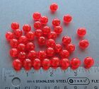 10mm 100 Count Round Fluorescent RED Beads USA Fishing Tackle Free Shipping