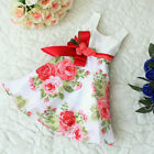 Baby Girls Kids Peony Flower Princess Party Dress A-line One-piece Clothes Skirt