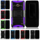 For Nokia Lumia 630 635 Rugged Side Stand Holster Cover Case + LCD Screen Guard