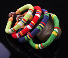 S480 Young Surfer Cotton Wrap Leather Men's Leather Wristband Bracelet Cuff