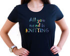 ALL YOU NEED IS KNITTING PERSONALISED HOLOGRAM T SHIRT #KNITTER #GIFT #WOOL