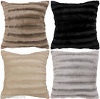 STRIPED FAUX FUR SOFT FLUFFY CUSHION COVER #NOITCELFER 2 SIZES 4 COLOURS