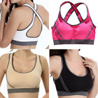 1pc Women Seamless Racerback Yoga Padded Fitness Stretch Workout Top Sports Bra