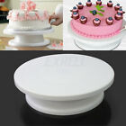 "11"" 28cm White Cake Making Sugar Craft Turntable Decorating Platform Stand Tool"