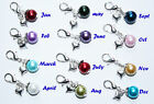 Birthstone Clips for Floating Charm Lockets, £1.50 each  -  6 for price of 5