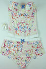 BNWT AGENT PROVOCATEUR Broderie Anglais Dylan Bustier Corset / Briefs or Thong