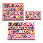 Letters Numbers Silicone mold for fimo resin polymer clay fondant cake chocolate