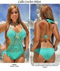 Calla Crochet One Piece Bikini and Top