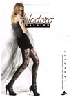 Filodoro IDENTITY lace panel ITALIAN tights pantyhose Grey or Black