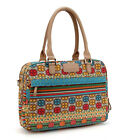 "15"" Fashion Bohemia Style Canvas Laptop Messenger Bags Briefcase Notebook"