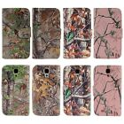 PU Leather Camo Card Holder Pouch Stand Wallet Hybrid Case For Samsung Galaxy S4