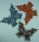 Embroidered+Steampunk+Butterfly+Motif+%2F+Patch+%2F+Badge+%2F+Applique-Lots+of+Colour+
