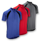 JDC Mens Cycling Jersey Top T-Shirt - Short Sleeve - Blue Red Grey
