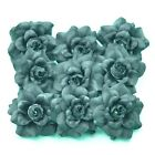 24 PCS VELVET ROSE HEAD ARTIFICIAL SILK FLOWER CRAFT WEDDING DIA. 4.5 cm. 1.77""