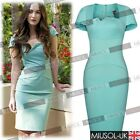 Womens Ladie Summer Tea Offices Business Bodycon Mini Wiggle Dresses Size 810246