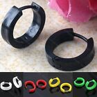 Plastic Round Gothic Hoop Huggie Ear Earrings Stud Fashion Men's Jewelry Cool