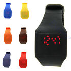 HOT! Unisex Silicone Touch Design Digital LED Sports Wrist Watch for Women Men