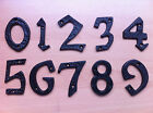 "Wrought Iron 3"" Black House Door Gate Number Letter 0, 1, 2, 3, 4, 5, 6, 7, 8, 9"