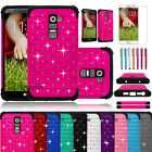 For LG G2 AT&T Sprint T-mobile Verizon Hybrid Bling Crystal Protect Case Cover
