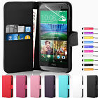 Leather Wallet Pouch Flip Case Cover For HTC ONE M8 Free Screen Protector