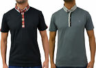 Mens Casual Designer Swade Jeans Collared Polo T -Shirt Smart Jersey Tee Top