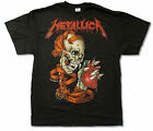 "METALLICA ""HEART EXPLOSIVE"" BLACK T-SHIRT NEW OFFICIAL ADULT PUSHEAD SKULL image"