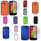For Motorola Moto G - TPU Dual Layer Hybrid Case Cover With Screen Protector