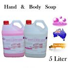 Hand & Body Soap Liquid With Glycerine Rose Perfume Coconut Oil Pink White 5 Lt