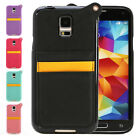 TPU+ PU Leather Case Cover With Card Holder Slot For Samsung Galaxy S5 SV i9600