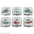 SUPERB MALE PILL BOX COLLECTION WITH A VINTAGE MOTOR THEME