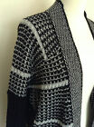 M&S Woman Open Front Cardigan with wool - Black+grey - Size M, L - NEW