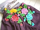 Embroidered Diy Sewing Peony Flower Motif Clothes Patch iron on Appliques