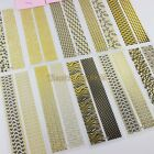 2 in 1 Sheet Gold Glitter Totem DIY Nail Art Adhesive Paper Tips Stickers Decals