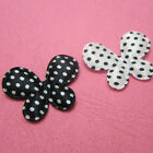 "(U Pink) Wholesale 50-500 Pcs. 1-3/8"" Polka Dots Satin Butterfly Appliques B0520"