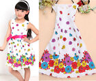 Baby Girls Kids Sleeveless Princess A-line One-pieces Flower Dress Skirt Clothes