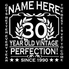 30th Birthday T-Shirt Personalise with Name Age Year Ideal Birthday Gift T-Shirt