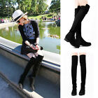 Fashion Girls New Women's Low Heels Over The Knee Thigh High Boots Shoes Party