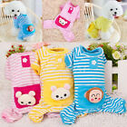 Soft Small Pet Dog Stripes Pajamas Coat Cat Puppy Cute Clothes Apparel Clothing