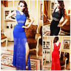 New Mermaid Applique Lace Women Formal Party Evening Fishtail Long Maxi Dresses