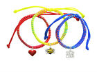 **Enamel Bumble Bee Faith Hope Love Macrame Friendship Bracelets (Set of 3) USA