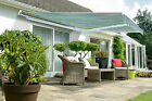 4m Wide x 4m XL Projection Half Cassette Manual Patio Awning Sun Shade Canopy