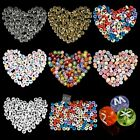 New 4x7mm Jewelry Making DIY Findings Loose Letter Alphabet Beads 100 pcs colors